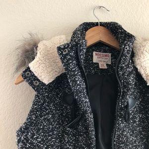 Hooded Tweed Vest